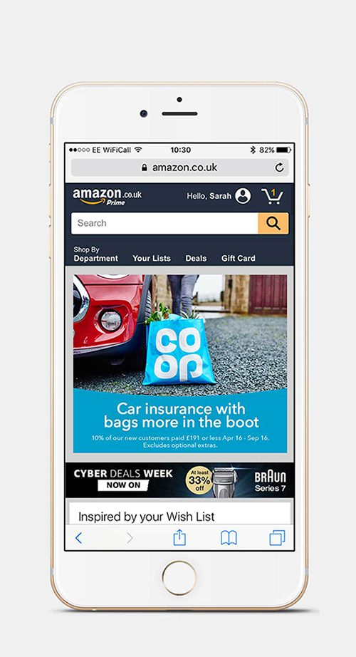 Co-op Affiliate ad on mobile